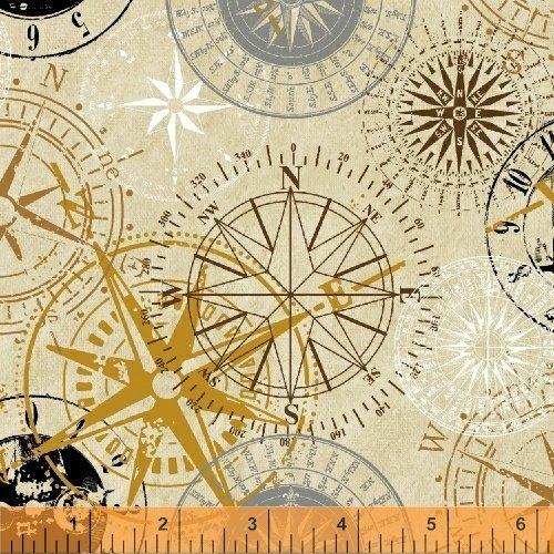 Measure - compasses on tan