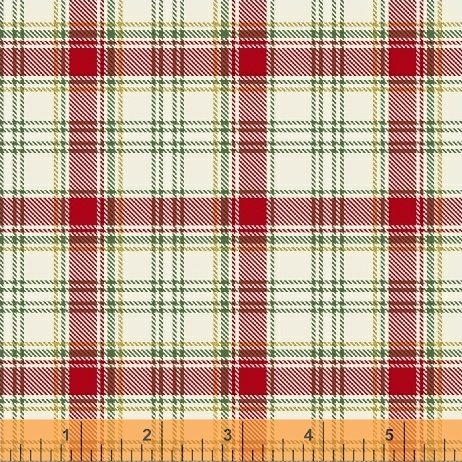 Deck the Halls - white and red plaid