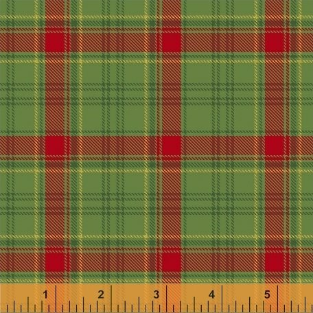 Deck the Halls - green and red plaid