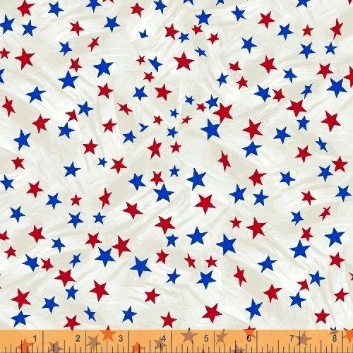 Lady Liberty - mini stars - red ang blue on white