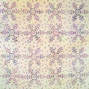 Batik by Mirah - pinkish with snowflake pattern