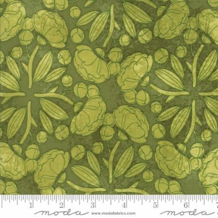 Blushing Peonies - flowers on green