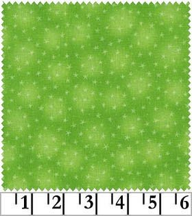 Starlet - lime - with small stars