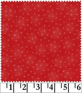 Starlet - red - with small stars