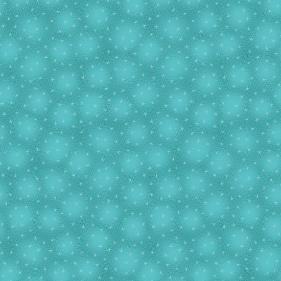 Starlet - teal - with small stars