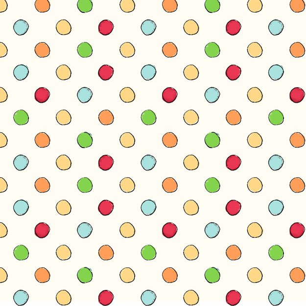 Birds 'N Bees - colorful dots on white