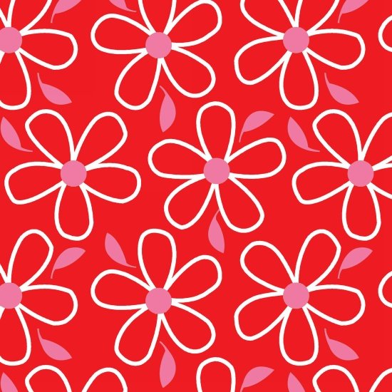 Quilt Camp - flowers on lime red