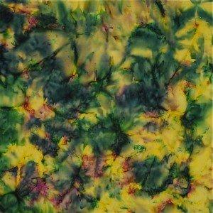 Mirah Z Batiks - green & yellow hues