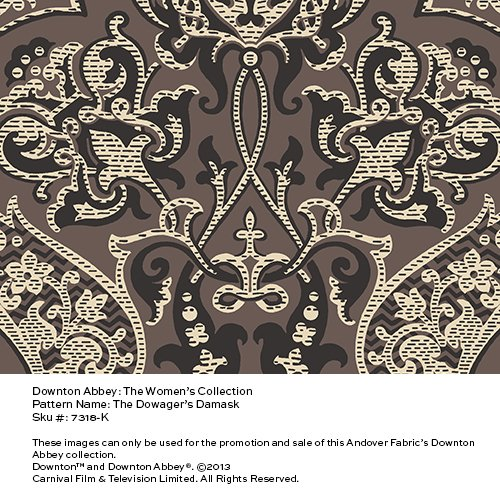 Downton Abbey - Dowager's Damask  dark