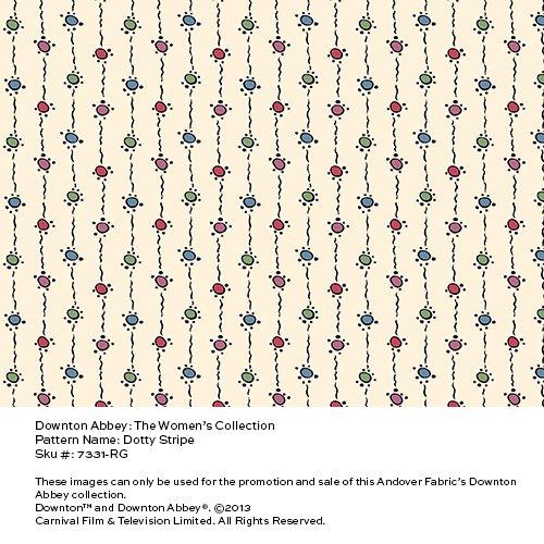 Downton Abbey - dotty ribbon on tan