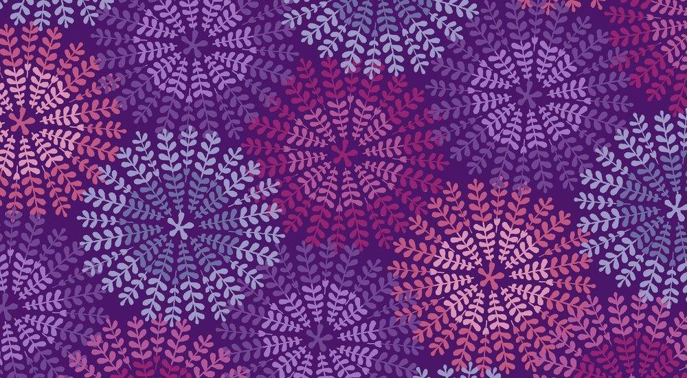 Bonita - circle flowers - purples