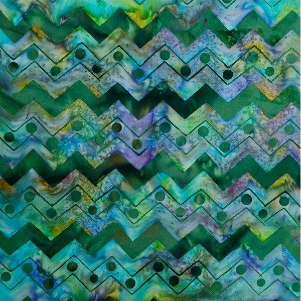 Batiks by Mirah - wonder waves - greens