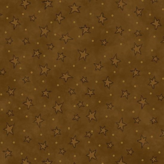Starry Basics - brown with stars