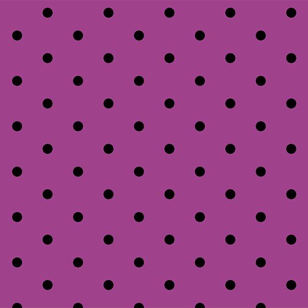 Not So Spooky - black dots on purple