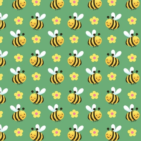 Spring Fling -  bees on green
