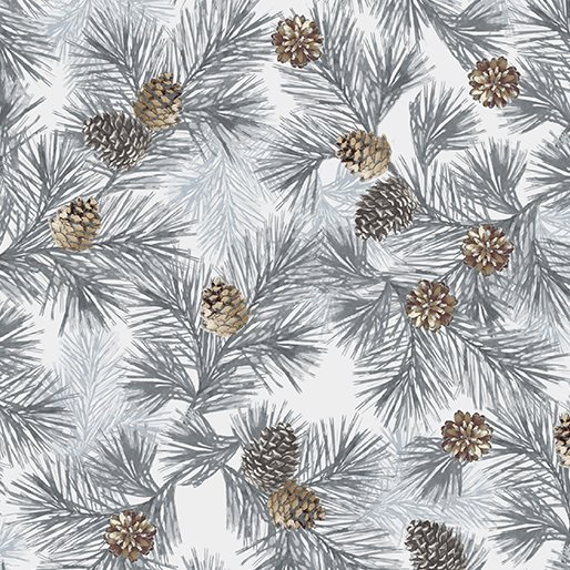 Into The Woods - pine boughs with pine cones