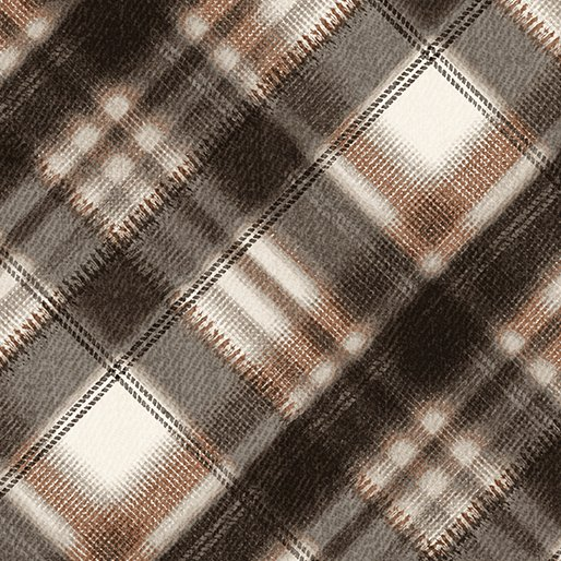 Into The Woods - brown plaid