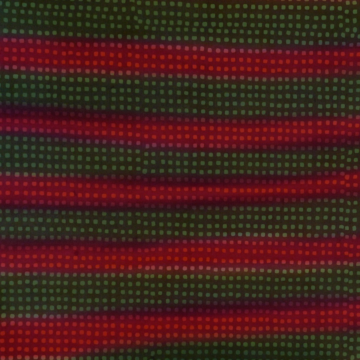Batiks by Mirah - Radio - green & red stripes with small squares