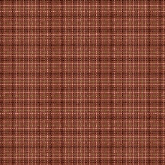 Cherry Blossoms - yarn dye - small plaid - red