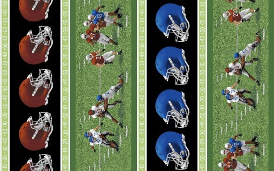 Touch Down - helmets and players repeating stripe