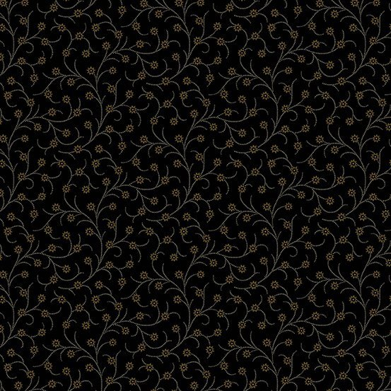 Trinkets - scrollwork flowers on dark