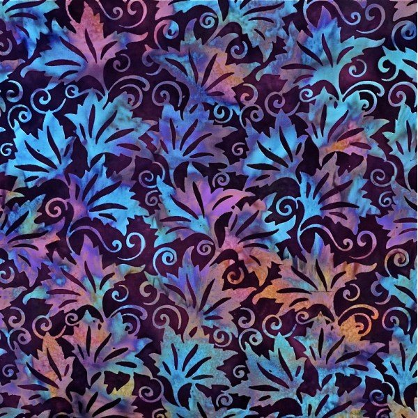 Batiks by Mirah - leaves on wine