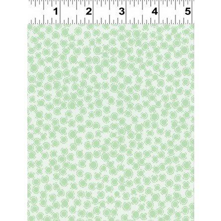 Amethyst - light mint circle dots