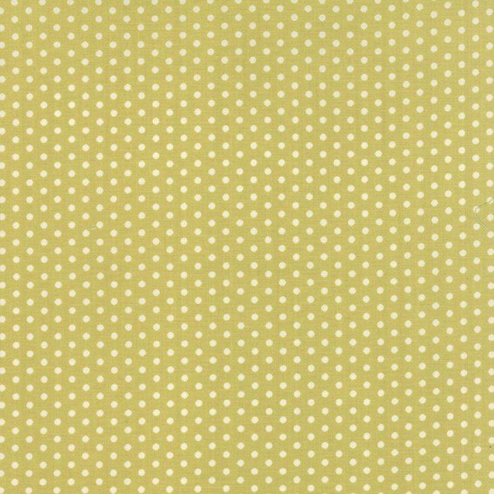 Farmhouse - white dots on green