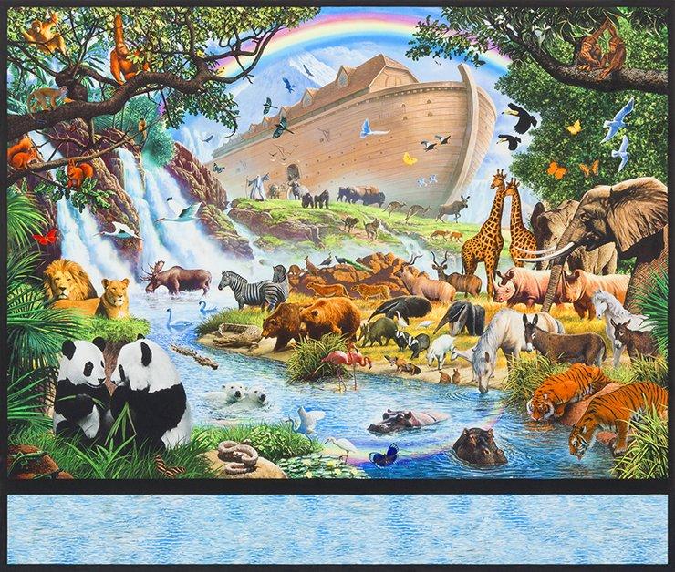 Inner Faith - panel - animals and ark