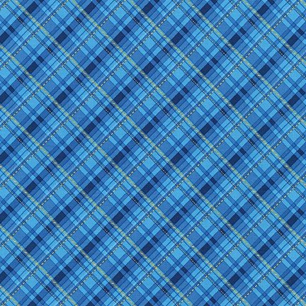 Winter's Grandeur 8 - Blue Plaid