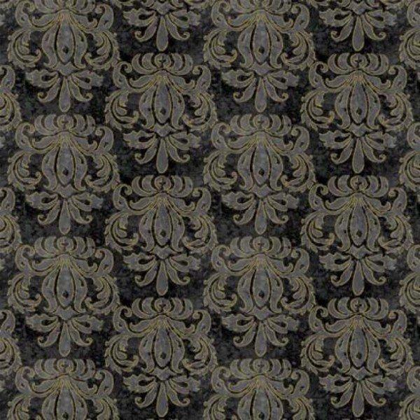 Black Damask with metallic