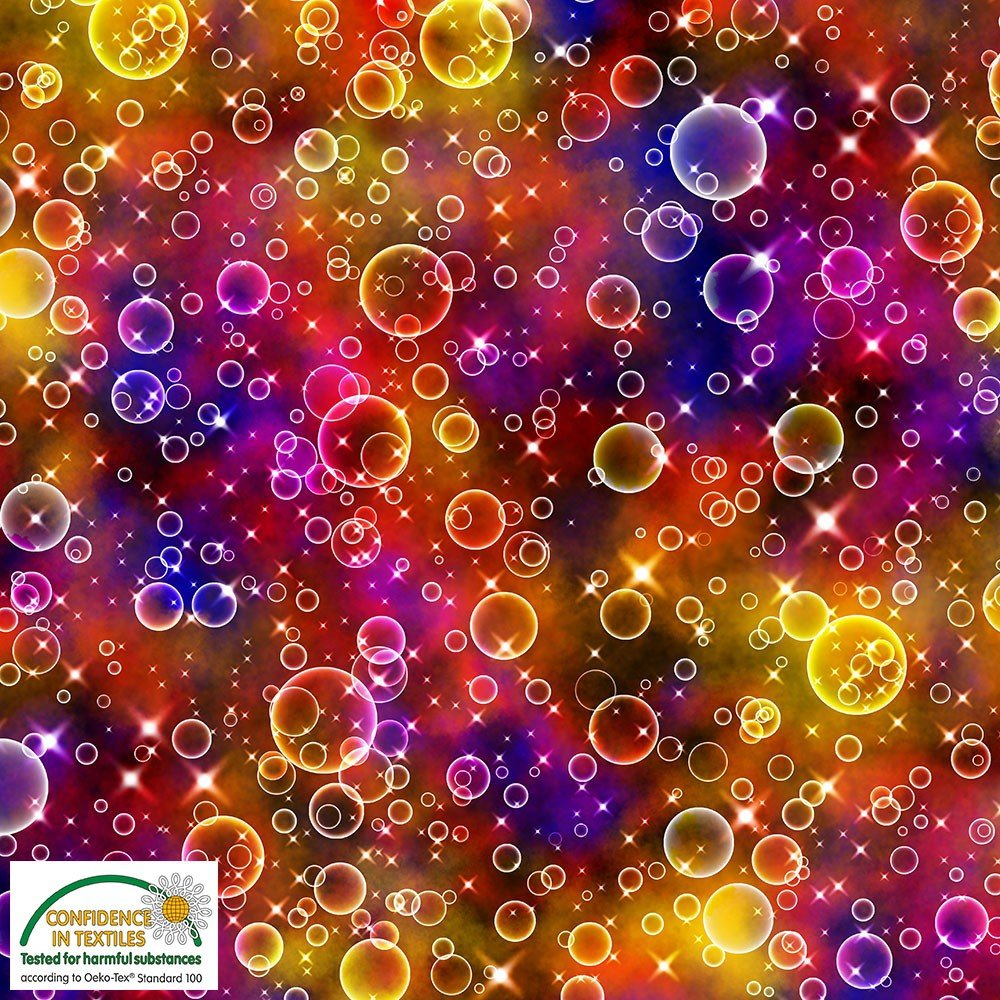 Colorful Bubbles - Red Purple