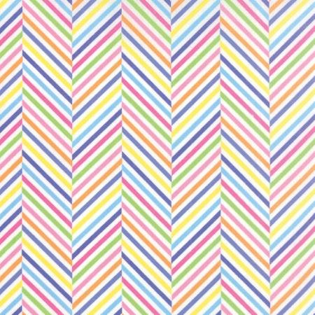 Dot Dot Dash - multi colored zigzag stripes on white