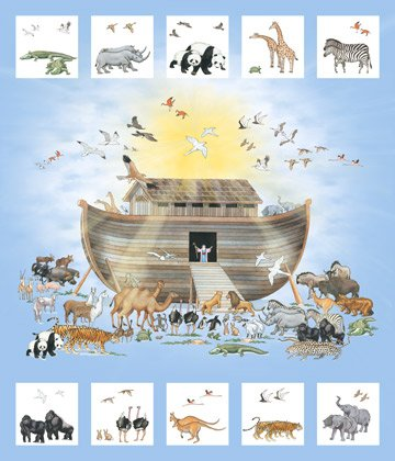 Noah's Ark - panel with animal cutouts