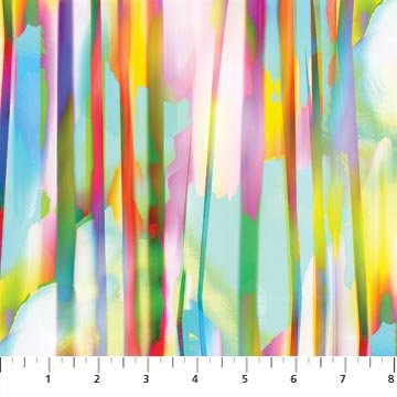 Strokes of Brilliance - brilliantly colored sweeps of color