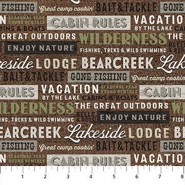 Lakeside Lodge - flannel - lakeside words