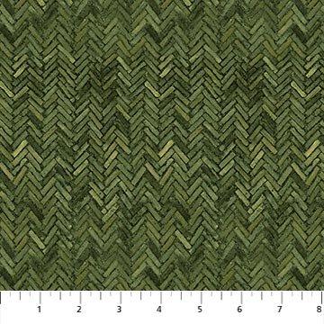 Lakeside Lodge - flannel - herringbone pattern - green
