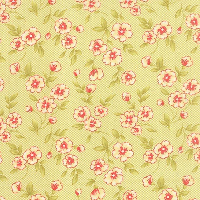 Farmhouse - medium flowers on green