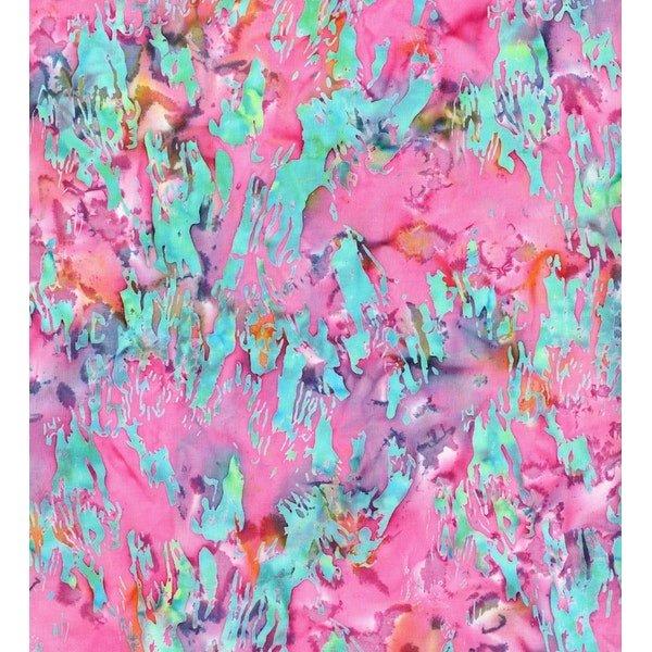 Blossom Batiks - Cascade  pinks/teals
