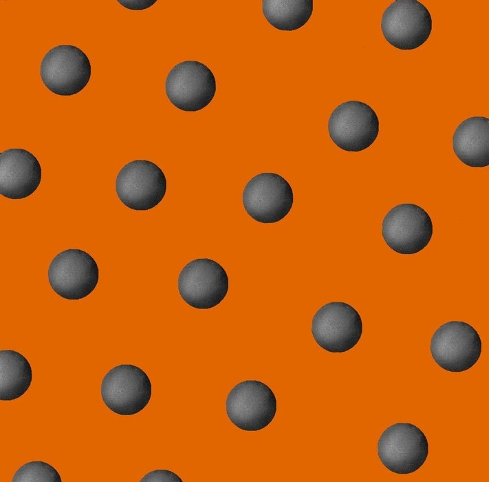 Cheeky Pumpkins - gray dots on orange