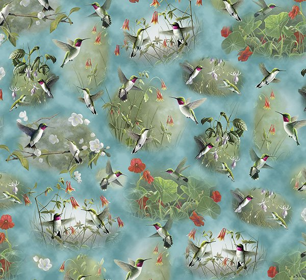 Humming Birds - scattered in natural settings