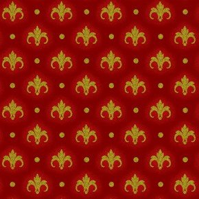 Magic of Winter - medallions on red