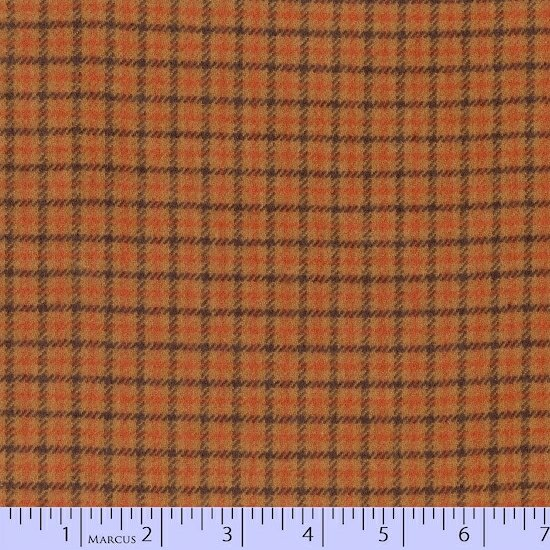 Primo Plaid Flannel - Harvest - med bronze with square pattern