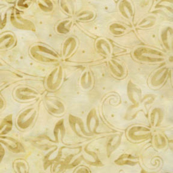 Softies - white batiks stems with leaves