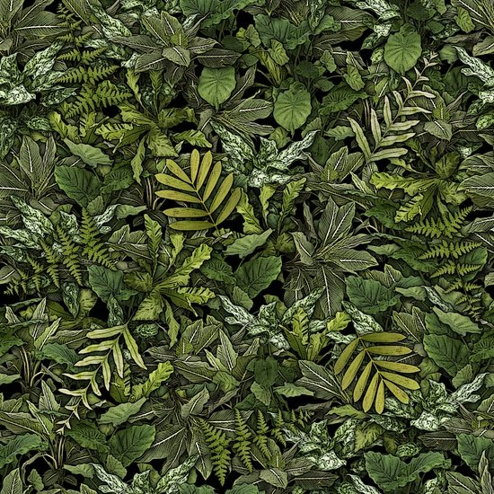 Jurassic Jungle - jungle foliage - green