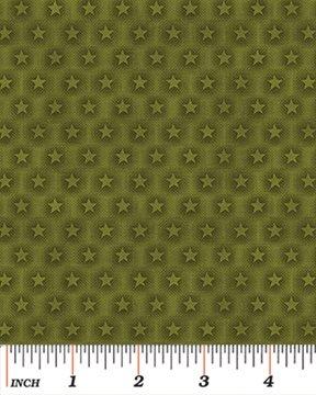 Moose Lake - green stars on pine green