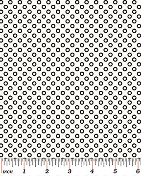 black circles on white