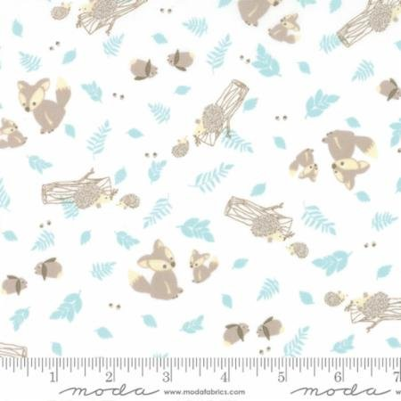 Lullaby - woodland critters on cloud (white)