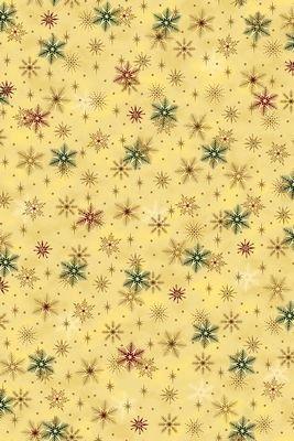 It's Snowflakes - green and wine snowflakes on dark cream