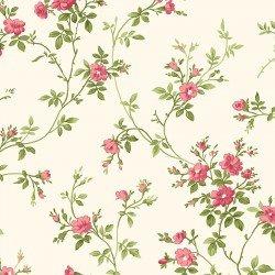 Poppies - delicate vine on cream